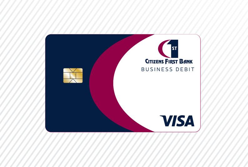 Citizens First Bank Business Debit card art