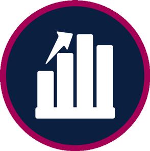 trending upward graph logo